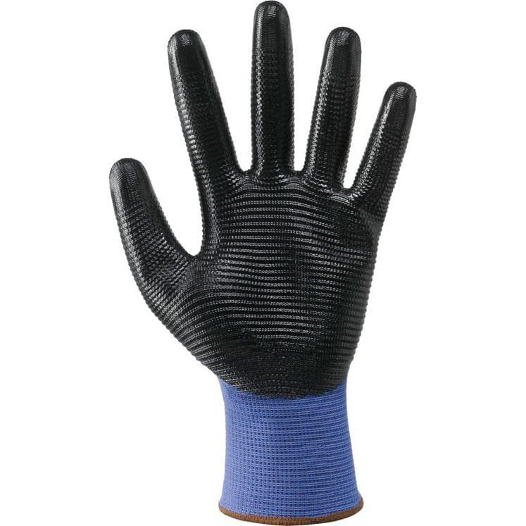 Work gloves in continuous wire NBR