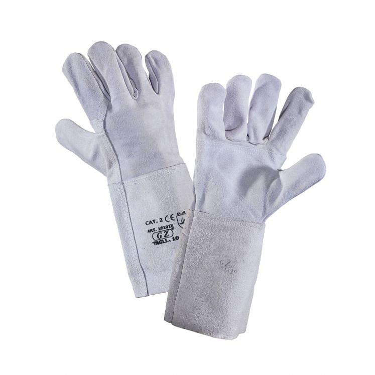 Work gloves in rump split material