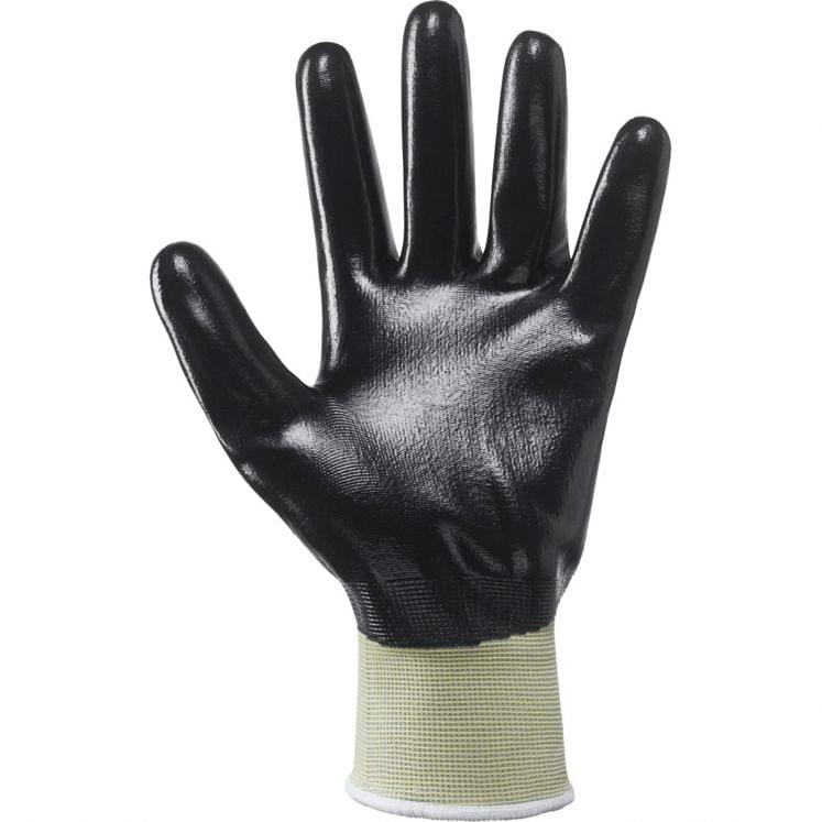 Work gloves in continuous wire NBR total grip NBR