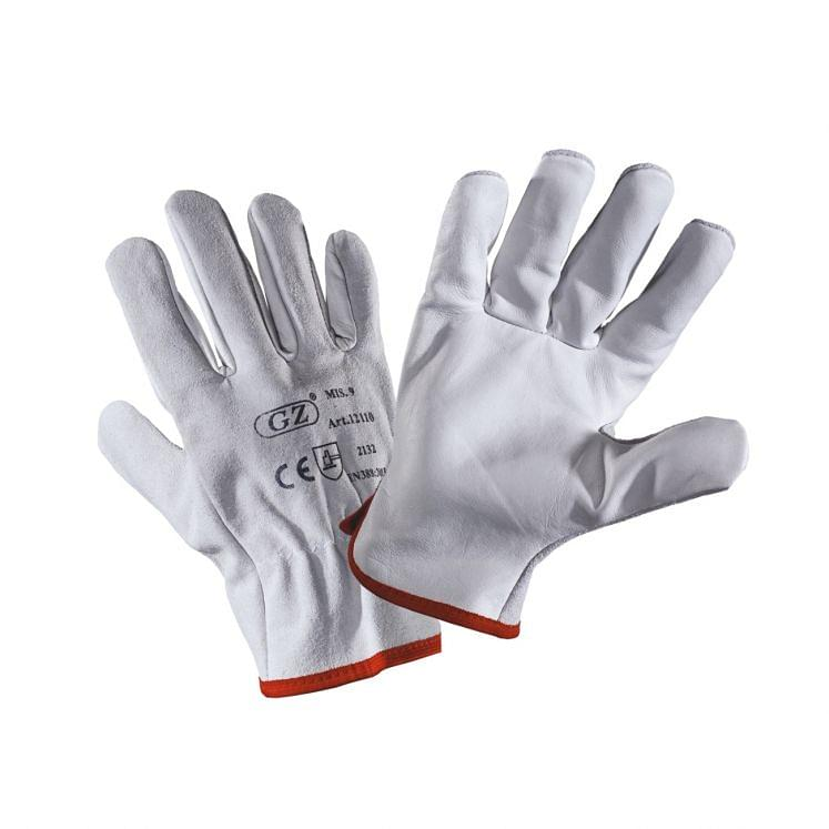 Work gloves in cowhide grain split leather