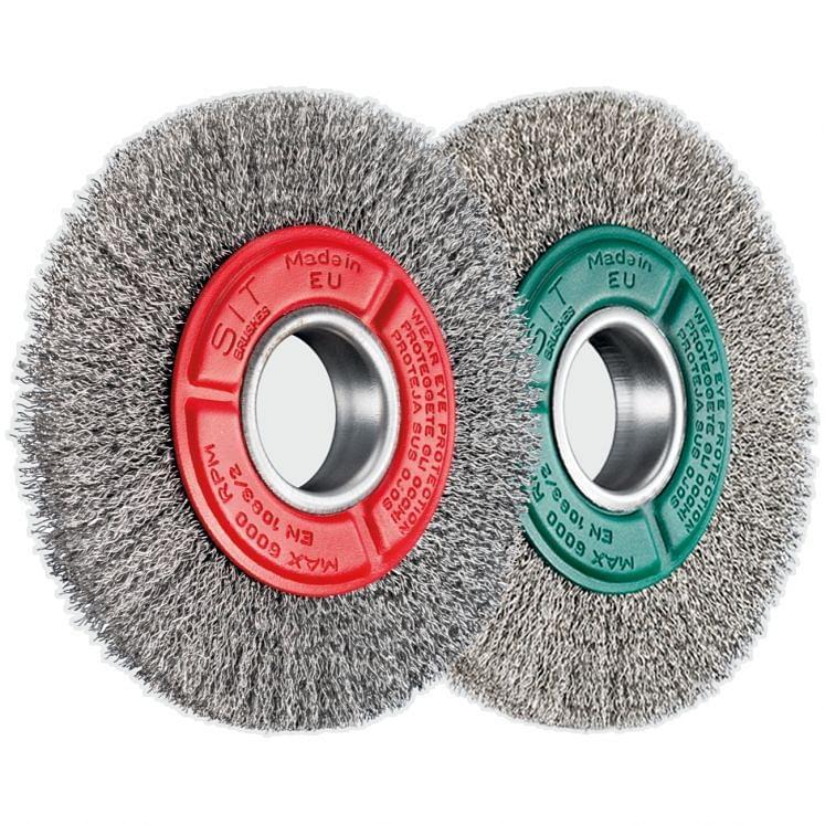 Wheel brushes with hole