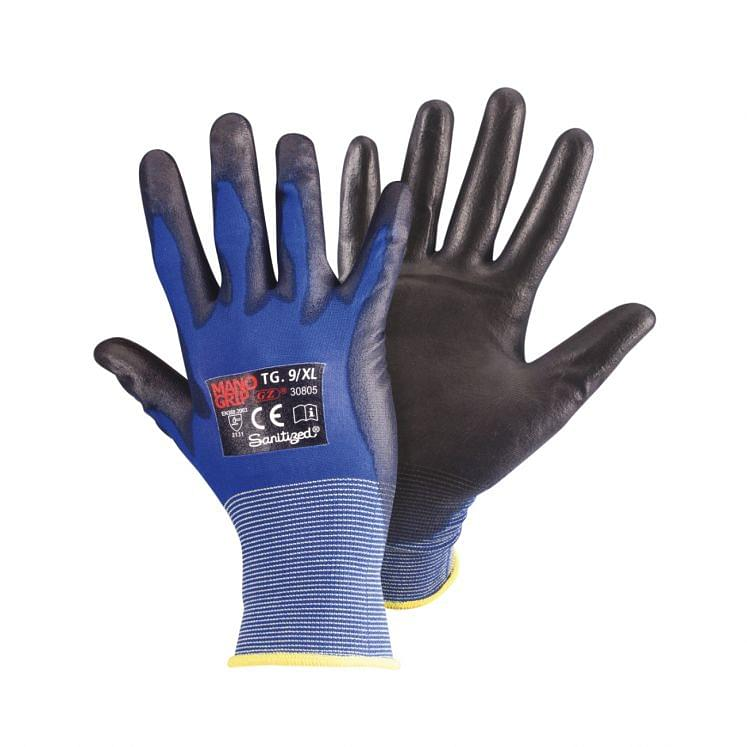 Work gloves in nylon light weight coated in polyurethane
