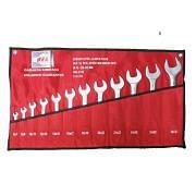 Set of double ended open jaws wrenches WRK