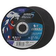 Depressed centre cutting discs NORTON SUPER BLEUE 4 Abrasives 35681 0