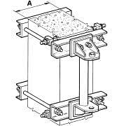 Anchoring bracket system kit for wall mounted cranes B-HANDLING