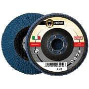 Flap grinding discs with fiberglass backing in zirconium abrasive cloth WRK FALCON FIBRA Abrasives 19594 0