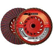 Flap grinding discs with reinforced plastic backing and zirconium and corundum abrasive cloth WRK RED DRAGON PLASTICA Abrasives 8 0