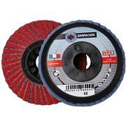 Flap grinding discs with plastic backing in zirconium and ceramic abrasive cloth WRK BARRACUDA PLASTICA Abrasives 30174 0