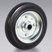 Black rubber wheels in sheet metal TELLURE RÔTA Workshop equipment 6349 0
