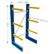 IPE Cantilevers andquot;Pandquot; heavy series single-faced Furnishings and storage 21093 0
