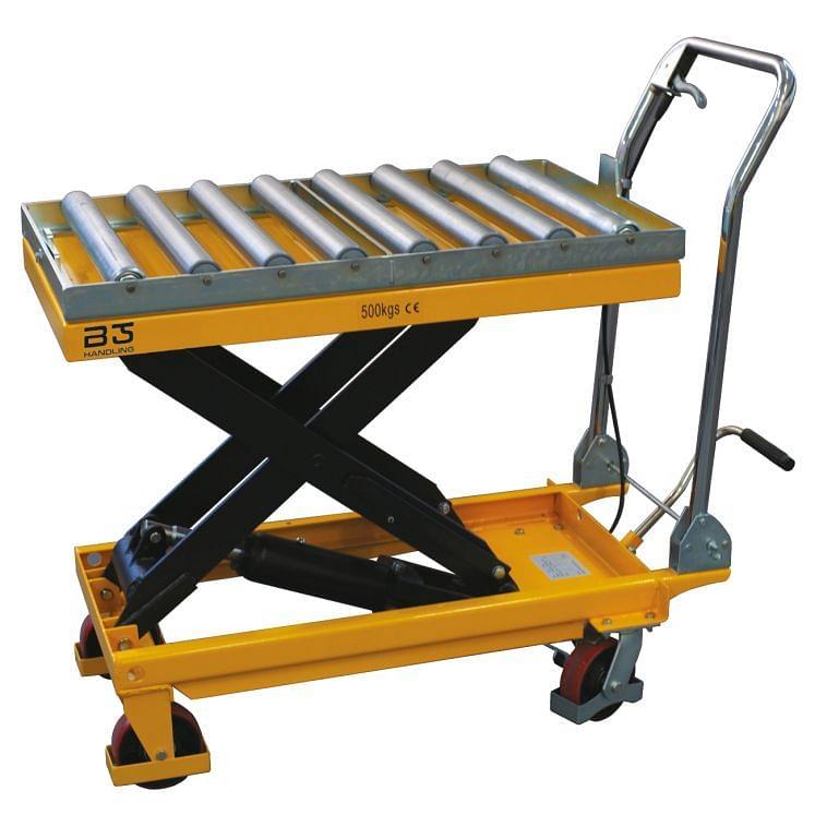 Wózek Nożycowy Platformowy Z Systemem Nożycowym I Stołem Rolkowym B Handling